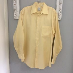 Pronto Uomo Slim Fit Button Shirt Up 15.5 Yellow